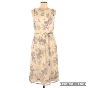 Authentic David Meister Silk Floral Print Dress